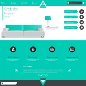 Minimalistic-business-website-template-set-vector-09