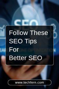 SEO Tips For Better SEO